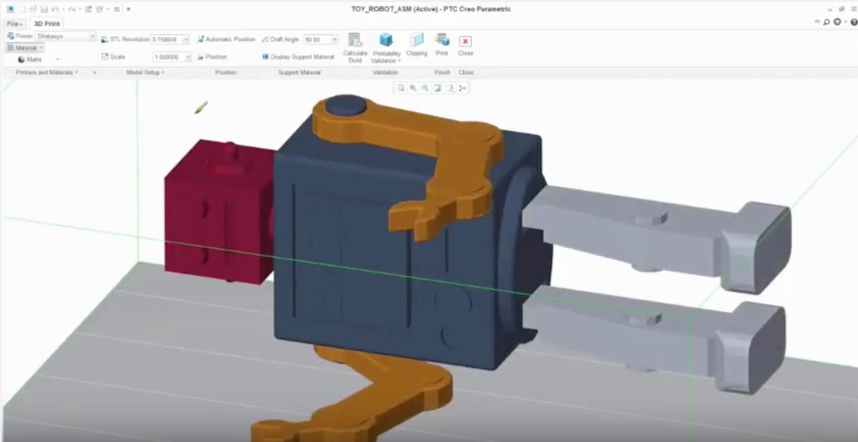 PTC Creo y la impersión 3D