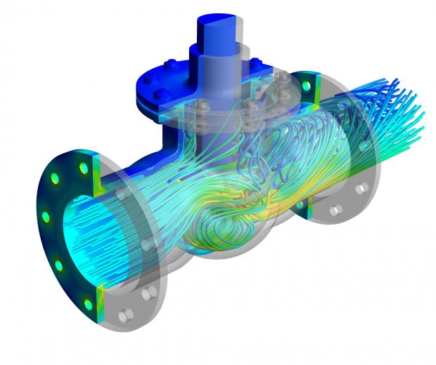FSI-Valve-CFD and FEA image flow through a valve_1