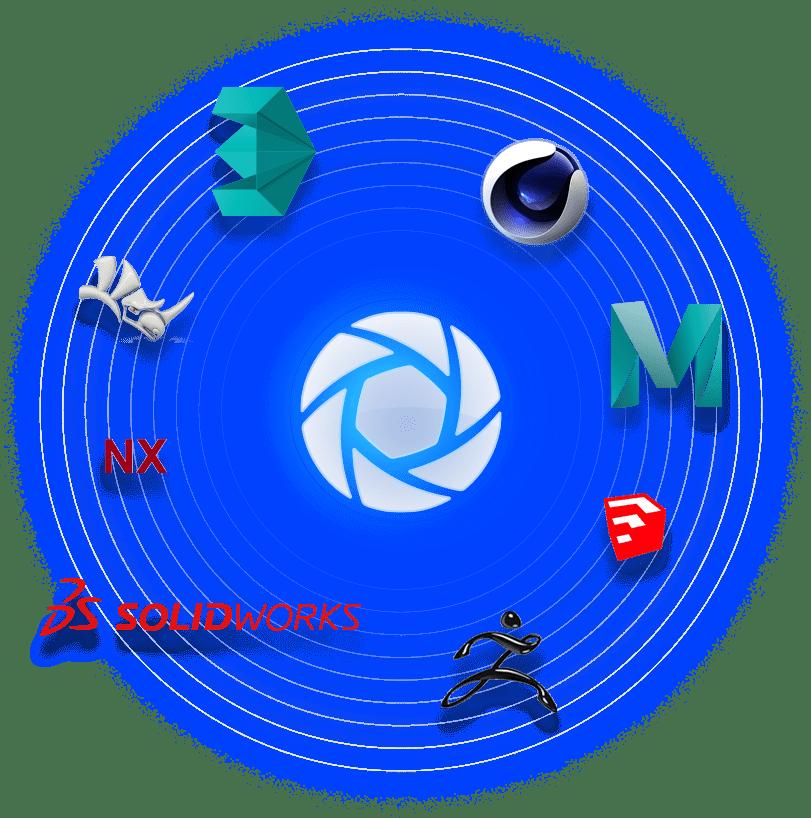 keyshot-carga-en-un-clic